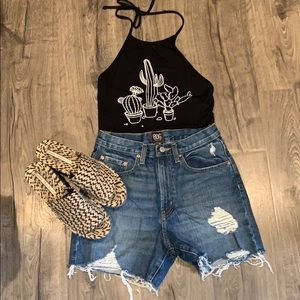 NWOT Urban outfitters high rise denim shorts